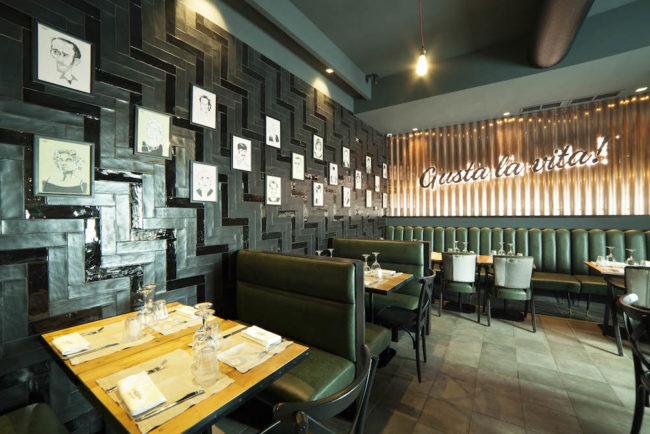 Interno del ristorante I Vitelloni
