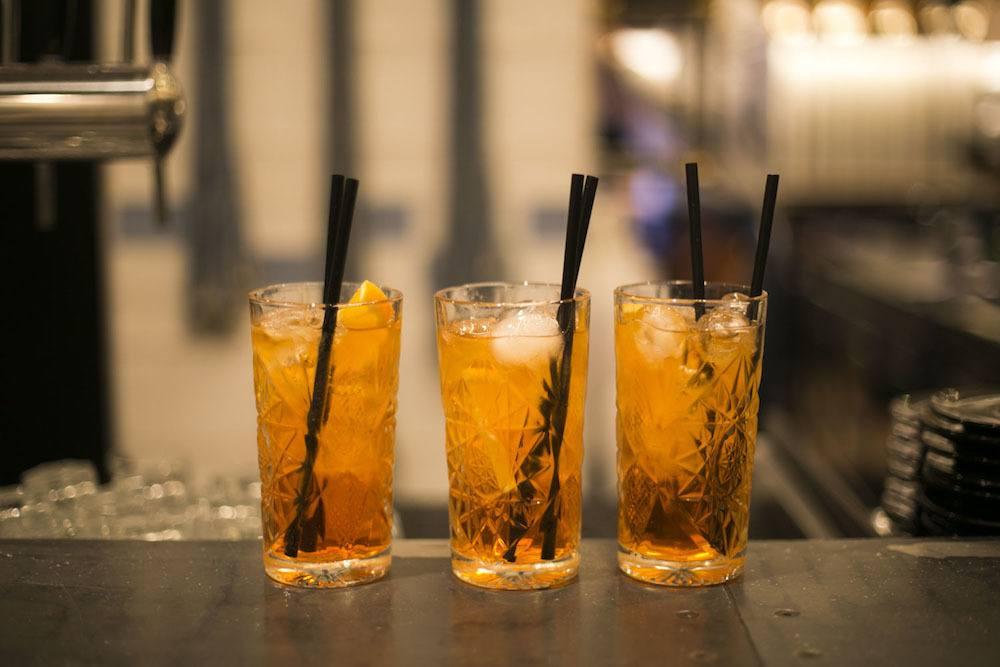 Tre bicchieri di Spritz